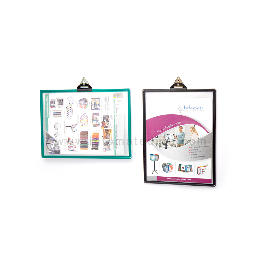 Infomate wall mounted document holder