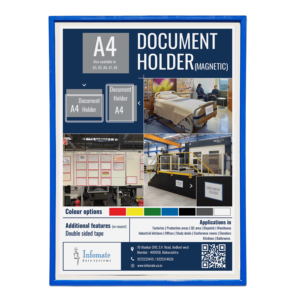 Magnetic Document Holder – A4 Size, Pack of 4